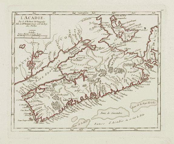 Map of Acadie